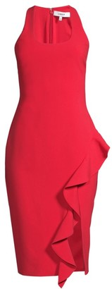 LIKELY Rosella Ruffle Sheath Dress