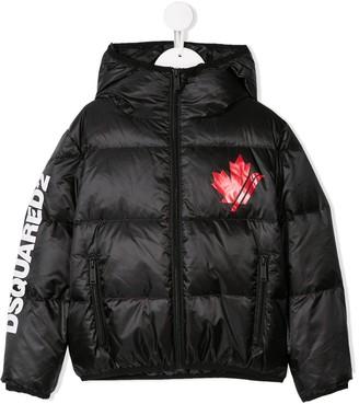 DSQUARED2 padded logo print jacket