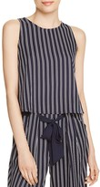Aqua Striped Sleeveless Top - 100% Exclusive