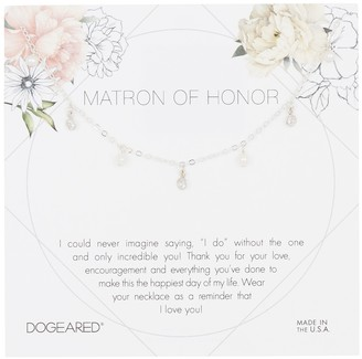 Dogeared Sterling Silver Matron Of Honor Necklace