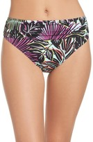 Tommy Bahama Women's Lively Leaves High Waist Bikini Bottoms