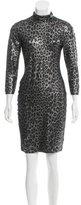 Blumarine Metallic Printed Dress