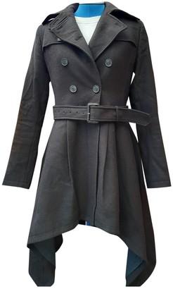 AllSaints Black Wool Coat for Women