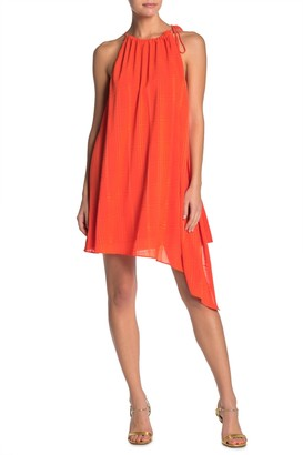 One One Six Tonal Textured Halter Neck Mini Dress
