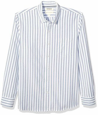 Goodthreads Standard-fit Long-sleeve Fashion Stripe Oxford Shirt Button