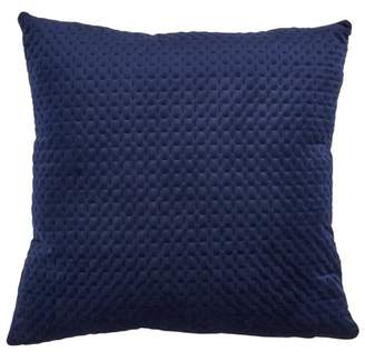 Mid-Century MODERN Saro Lifestyle Poly Filled Pinsonic Velvet Pillow Navy Blue