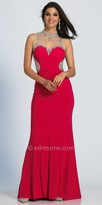 Dave and Johnny Illusion Sparkling Rhinestone Embellished Prom Dress