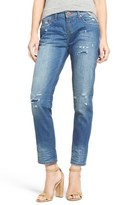 One Teaspoon 'Awesome Baggies' Distressed Boyfriend Jeans (Blue Cult)