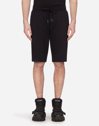 Dolce & Gabbana Cotton Jogging Shorts With Patch