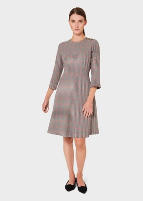 Hobbs Francine Check Fit And Flare Dress