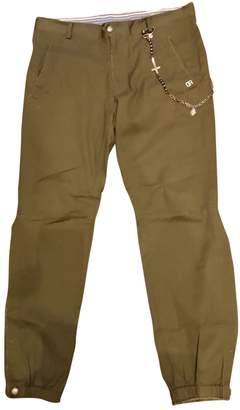 Daniele Alessandrini Khaki Cotton Trousers