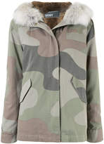 Army Yves Salomon camouflage print short parka