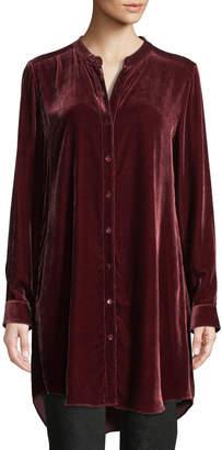 Eileen Fisher Petite Long Washable Velvet Tunic Top
