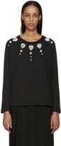 Christopher Kane Black Jewel Collar Pullover