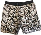 Christopher Kane Grey Fur Shorts for Women
