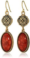 """Barse Canyon"""" Red Sponge Coral Drop Earrings"""