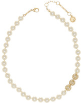 Louise et Cie Short Glass Pearl & Crystal Detail Necklace
