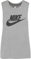 Nike Printed Stretch-jersey Tank - Gray