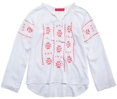 Menu Girls' Embroidered Peasant Top - Sizes XS-XL