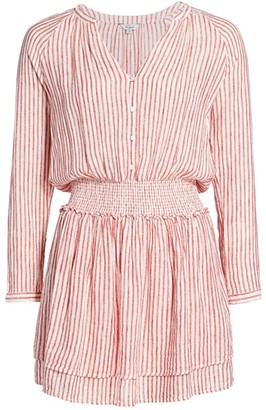 Rails Jasmine Stripe Smock-Waist Dress