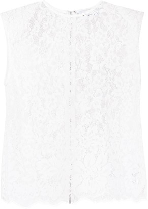 Self-Portrait Sleeveless Lace Top