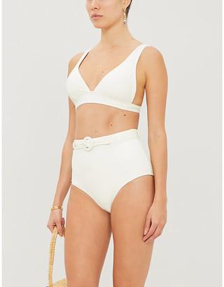 Peony Swimwear Petunia V-neck stretch-recycled polyamide bikini top