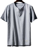 SK Studio Mens Classic Summer Short Sleeve Shirt Grey