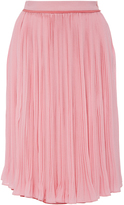 Carven Crepe Pleated Skirt