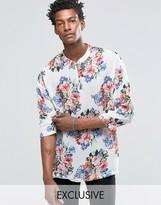 Reclaimed Vintage Chiffon 70s Shirt In Reg Fit
