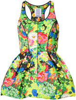 Rosie Assoulin floral print peplum top - women - Silk/Cotton/Viscose - 2