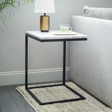 Box Frame C-Base Side Table - Marble/Antique Bronze