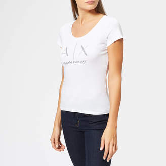 Armani Exchange Women's Fitted Logo T-Shirt