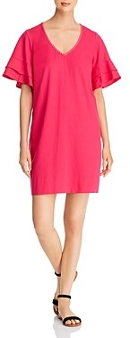 Tommy Bahama Lanailette Flutter-Sleeve Shift Dress