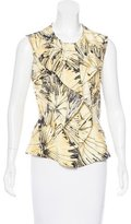 Carolina Herrera Sleeveless Printed Top