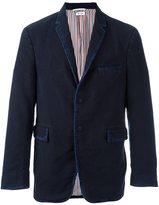 Thom Browne single button casual blazer - men - Silk/Cotton/Cupro - 2