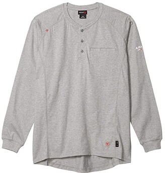 Ariat FR Air Henley Top (Sand Heather) Men's Clothing
