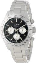 A Line a_Line Women's AL-20050-SL-BK Amore Chronograph Dial Silver Tone Aluminum Watch