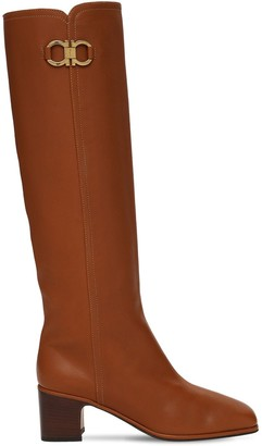 Salvatore Ferragamo 55mm Ciri Tall Leather Boots