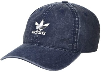 adidas Originals Cloud Relaxed Adjustable Strapback Cap (Clear Onix/Black) Caps