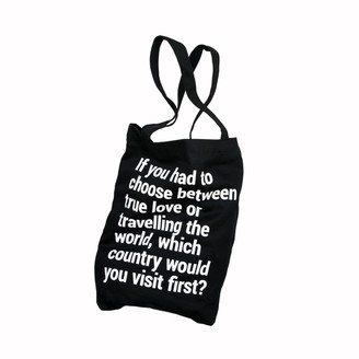"""Bold Tuesday Travel Tote Bag """"True Love"""" With A Pocket & Lanyard"""