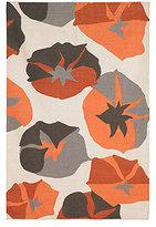 DwellStudio Big Floral 5x8 Rug in Persimmon