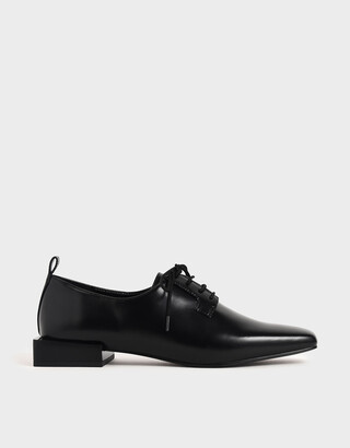 Charles & Keith Square Toe Oxford Shoes