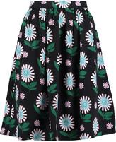 Markus Lupfer Ditsy Daisy floral-print crepe skirt