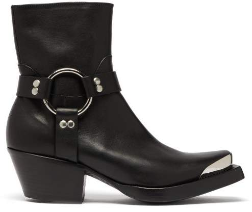 37c0800b661 Ring And Stirrup Leather Western Boots - Womens - Black
