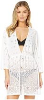 Dotti Gypsy Gem Drawcord Waist Tunic Cover-Up (White) Women's Swimwear