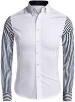 Coofandy Men's Casual Button Down Shirts Long Sleeve Dress Shirt