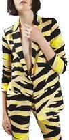 Topshop Women's Tiger Print Blazer