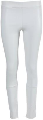 The Row White Mino Leather Pants