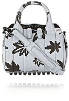 Alexander Wang Mini Rockie In Pale Blue With Leaf Print