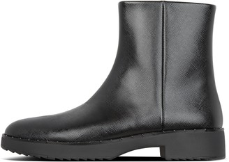 FitFlop Mari Textured Faux Leather Ankle Boots